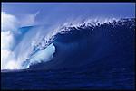 MAY 2000    -  Teahupoo, Tahiti   -  The unridden realm at Teahupoo the worlds heaviest left..