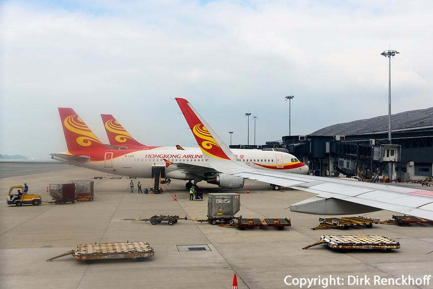 Flugplatz auf der Insel Lantau, Hongkong, China<br /> Airport on Lantau island, Hongkong, China