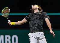 Rotterdam, The Netherlands, 6 march  2021, ABNAMRO World Tennis Tournament, Ahoy,  <br /> Semi final: Stefanos Tsitsipas (GRE).. Photo: www.tennisimages.com/