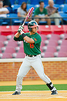Michael Broad #8 of the Miami Hurricanes at bat against the Wake Forest Demon Deacons at Gene Hooks Field on March 18, 2011 in Winston-Salem, North Carolina.  Photo by Brian Westerholt / Four Seam Images