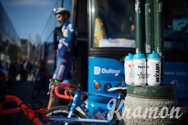 bidons at the ready<br /> <br /> 3-daagse van West-Vlaanderen 2016<br /> stage1: Bruges-Harelbeke 176km