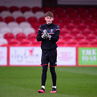 Lincoln City's Sam Long during the pre-match warm-up<br /> <br /> Photographer Andrew Vaughan/CameraSport<br /> <br /> The EFL Sky Bet League One - Accrington Stanley v Lincoln City - Saturday 21st November 2020 - Crown Ground - Accrington<br /> <br /> World Copyright © 2020 CameraSport. All rights reserved. 43 Linden Ave. Countesthorpe. Leicester. England. LE8 5PG - Tel: +44 (0) 116 277 4147 - admin@camerasport.com - www.camerasport.com