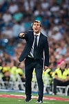 Manager Julen Lopetegui of Real Madrid reacts during the La Liga 2018-19 match between Real Madrid and Getafe CF at Estadio Santiago Bernabeu on August 19 2018 in Madrid, Spain. Photo by Diego Souto / Power Sport Images