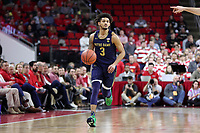 RALEIGH, NC - JANUARY 9: Prentiss Hubb #3 of the University of Notre Dame brings the ball up the court during a game between Notre Dame and NC State at PNC Arena on January 9, 2020 in Raleigh, North Carolina.