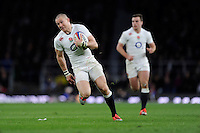 Mike Brown of England on his way to scoring a try, which was later disallowed
