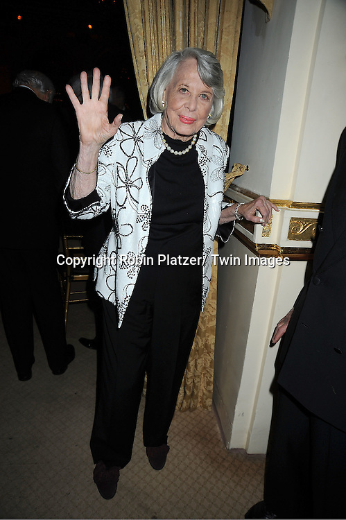 Liz Smith attends The 2011 Living Landmarks Celebration presented by The New York Landmarks Conservancy on ..November 2, 2011 at The Plaza Hotel in New York City.  ..The honorees are Lewis B Cullman, Louise Kerz Hirschfeld, Angelia Lansbury, Danny Meyer and Regis Philbin.