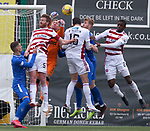 07.02.2021 Hamilton v Rangers: Allan McGregor punches clear