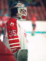 Andy Moog Team Canada. Photo copyright F. Scott Grant