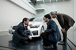Behind the scenes during the filming of the Infiniti [G] Concept at the Nissan Technical Center on November 14, 2012 in Okatsukoku, Japan. Photo by Victor Fraile / The Power of Sport Images