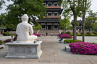 Yangzhou, Jiangsu, China.  Statue of the Buddha in Daming Temple Grounds.