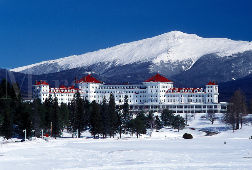 hotel, Bretton Woods, NH, New Hampshire, Historic Mount Washington Hotel & Resort in the winter in Bretton Woods.