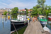 Schiffe der Wiemann-Werft, historischer Hafen, Brandenburg an der Havel, Brandenburg, Deutschland