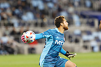 SAINT PAUL, MN - MAY 15: Phelipe Megiolaro #99 of FC Dallas throws the ball during a game between FC Dallas and Minnesota United FC at Allianz Field on May 15, 2021 in Saint Paul, Minnesota.