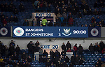Rangers v St Johnstone…16.12.17…  Ibrox…  SPFL<br />The scoreboard at full time Rangers 1 - 3 St Johnstone<br />Picture by Graeme Hart. <br />Copyright Perthshire Picture Agency<br />Tel: 01738 623350  Mobile: 07990 594431