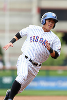 Buffalo Bisons second baseman Chin-lung Hu #2 runs the bases during a game against the Charlotte Knights at Dunn Tire Park on May 22, 2011 in Buffalo, New York.  Buffalo defeated Charlotte by the score of 7-5.  Photo By Mike Janes/Four Seam Images