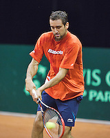 September 11, 2014, Netherlands, Amsterdam, Ziggo Dome, Davis Cup Netherlands-Croatia, Marin Cilic (CRO) practise<br /> Photo: Tennisimages/Henk Koster