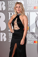 Ellie Goulding<br /> arrives for the BRIT Awards 2017 held at the O2 Arena, Greenwich, London.<br /> <br /> <br /> ©Ash Knotek  D3233  22/02/2017