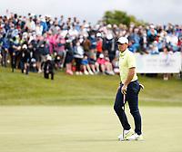4th July 2021; Mount Juliet Golf Club, Kilkenny, Ireland; Dubai Duty Free Irish Open Golf, Day Four; Rory Mcilroy of Northern Ireland misses his putt on the 18th green