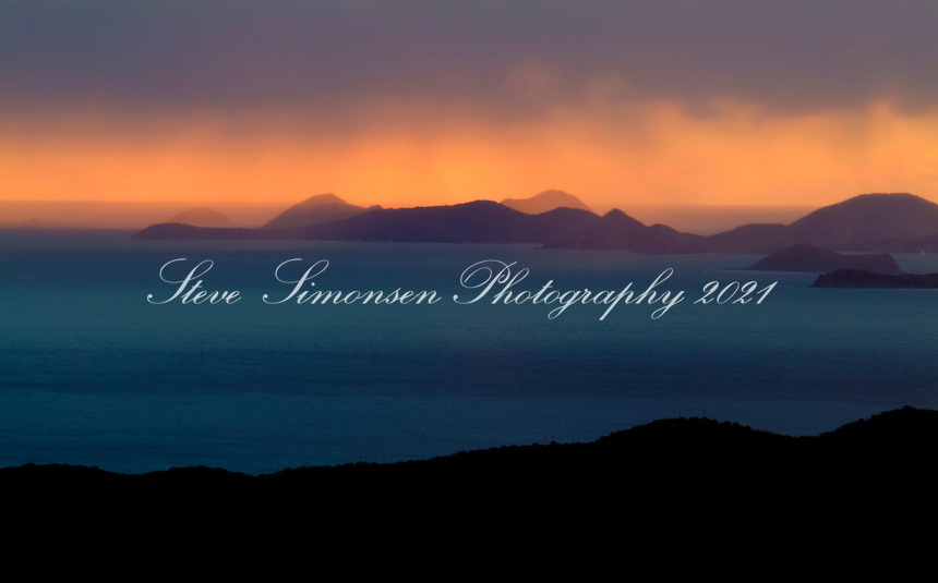 Sunrise from the east end of St. John<br /> U.S. Virgin Islands