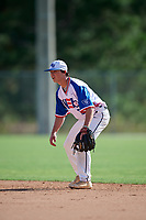 Ben Kailher during the WWBA World Championship at the Roger Dean Complex on October 19, 2018 in Jupiter, Florida.  Ben Kailher is a shortstop from Rumford, Rhode Island who attends Providence Country Day School and is committed to Penn State.  (Mike Janes/Four Seam Images)