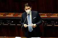 The Italian Premier Giuseppe Conte wearing a face mask during the information at the Lower Chamber about the Government crisis..<br /> Rome(Italy), January 18th 2021<br /> Photo Samantha Zucchi/Insidefoto