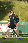 Ryan Jones during Ospreys rugby training at Llandarcy Institute of Sport near Neath aheah of their Heineken Cup match with Clermont Auvergne on Sunday..