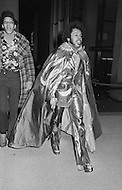 Manhattan, New York City, NY - January 28, 1974  <br /> Muhammad Ali and Joe Frazier at Madison Square Garden  - Billed as the 'Fight of the Century' African-American boxing fans and dandies attended wearing the most glam-fashions of the day. Furs, minis and thigh-high platform boots were all the rage.