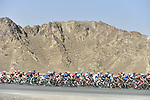 The peloton in action during Stage 3 The Silicon Oasis Stage of the Dubai Tour 2018 the Dubai Tour's 5th edition, running 180km from Skydive Dubai to Fujairah, Dubai, United Arab Emirates. 7th February 2018.<br /> Picture: LaPresse/Fabio Ferrari   Cyclefile<br /> <br /> <br /> All photos usage must carry mandatory copyright credit (© Cyclefile   LaPresse/Fabio Ferrari)