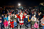 Santa arrives in Walsh Car Park Castleisland on Friday to a warm welcome.