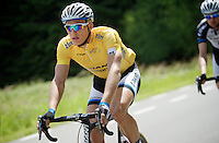 Marcel Kittel (DEU/Giant-Shimano) riding in yellow as the overall leader<br /> <br /> Ster ZLM Tour 2014