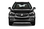 Car photography straight front view of a 2018 Buick Encore Premium 5 Door SUV Front View
