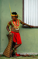 Boy waiting for his turn to participate, Performing in front of various villages, a tradition even weeks after Yap Day, Yap day is for all to enjoy, the performances after the yap day are only for induvisual Villages