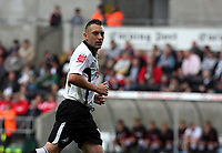 Pictured: Stephen Dobbie of Swansea City in action <br />
