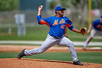 New York Mets Corey Taylor (47) during a minor league Spring Training game against the St. Louis Cardinals on March 31, 2016 at Roger Dean Sports Complex in Jupiter, Florida.  (Mike Janes/Four Seam Images)