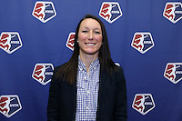 INDIANAPOLIS, IN - January 18, 2013: Sky Blue FC player Jillian Loyden. The National Women's Soccer League held its college draft at the Indiana Convention Center in Indianapolis, Indiana during the NSCAA Annual Convention.