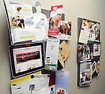 Some of the items designed by Bullpen marketing hand in the company's lobby Tuesday Feb. 26, 2013.(Dave Rossman/ For the Chronicle)