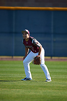 George Villafranca (11) of Los Fresnos High School in Los Fresnos, Texas during the Baseball Factory All-America Pre-Season Tournament, powered by Under Armour, on January 13, 2018 at Sloan Park Complex in Mesa, Arizona.  (Mike Janes/Four Seam Images)