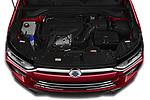 Car Stock 2020 Ssangyong Korando Onyx 5 Door SUV Engine  high angle detail view