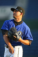 May 14 2009: Hector Estrella of the Rancho Cucamonga Quakes before game against the High Desert Mavericks at The Epicenter in Rancho Cucamonga,CA.  Photo by Larry Goren/Four Seam Images