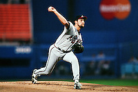 John Smoltz of the Atlanta Braves during a game against the Los Angeles Dodgers at Dodger Stadium circa 1999 in Los Angeles, California. (Larry Goren/Four Seam Images)