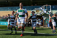 The team enters the pitch prior to the Greene King IPA Championship match between Ealing Trailfinders and Cornish Pirates at Castle Bar , West Ealing , England  on 29 September 2018. Photo by Match action Paul Paxford / PRiME Media Images.