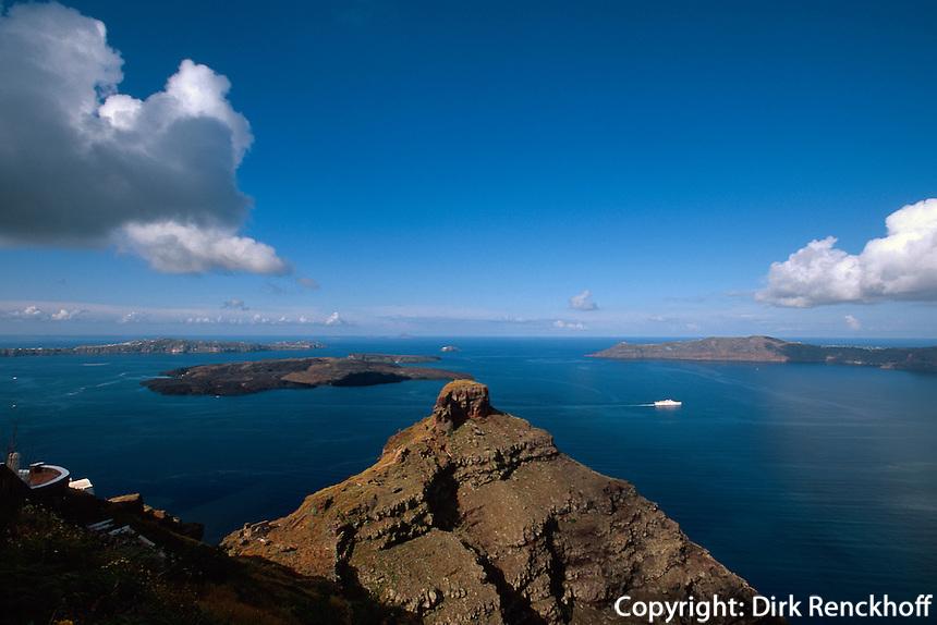 Skaros-Felsen bei Imerovigli, Insel Santorin (Santorini), Griechenland