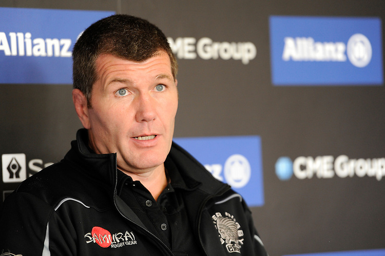 Rob Baxter, Exeter Chiefs Head Coach, speaks to the media at the post-match press conference