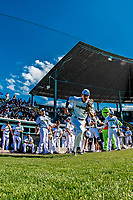 20 June 2021: Vermont Lake Monsters outfielder Tom Vesosky, from Colchester, VT, takes the field to face the Westfield Starfires at Centennial Field in Burlington, Vermont. The Lake Monsters fell to the Starfires 10-2 at Centennial Field, in Burlington, Vermont. Mandatory Credit: Ed Wolfstein Photo *** RAW (NEF) Image File Available ***