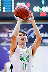 Cheung Pan Yin #18 of Tycoon Basketball Team concentrates prior to a free throw during the Hong Kong Basketball League game between Tycoon vs Eagle at Southorn Stadium on May 11, 2018 in Hong Kong. Photo by Yu Chun Christopher Wong / Power Sport Images