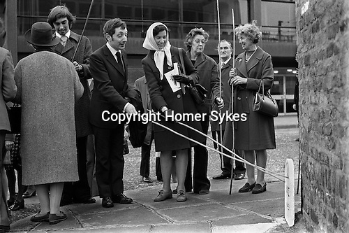Beating the Bounds. Tower Liberty, London 1975. The Liberty of the Tower of London is an independent area of the City, once defined by the distance of an arrow's flight from the outer walls of the Tower.Every three years on Ascension Day after a special service at the Chapel Royal of St Peter and Vincula a procession sets off to visit each of the thirty-one boundary stones and mark them.