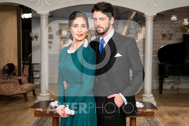 """Yara Puebla and Angel de Molina during the presentation of the new characters for the new season of the tv series """"El Secreto de Puente Viejo""""  in Madrid, February 10, Madrid. during the presentation of the new characters for the new season of the tv series """"El Secreto de Puente Viejo""""  in Madrid, February 10, Madrid. during the presentation of the new characters for the new season of the tv series """"El Secreto de Puente Viejo""""  in Madrid, February 10, Madrid."""