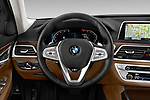 Car pictures of steering wheel view of a 2020 BMW 7 Series 740i Luxury 4 Door Sedan