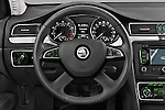 Car pictures of steering wheel view of a 2014 Skoda SUPERB Active 5 Door Hatchback 2WD Steering Wheel
