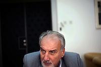 Vladimir Vukcevic, War Crimes Prosecutor, in his office in Belgrade..